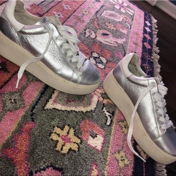 Ash Shoes   Metallic Silver Platform